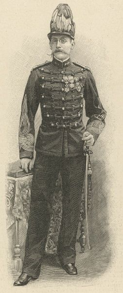 The chief administrator of Timbuktu in his military regalia. He was shot down and killed in his heroic confrontation with the Voulet-Chanoine Mission in 1899