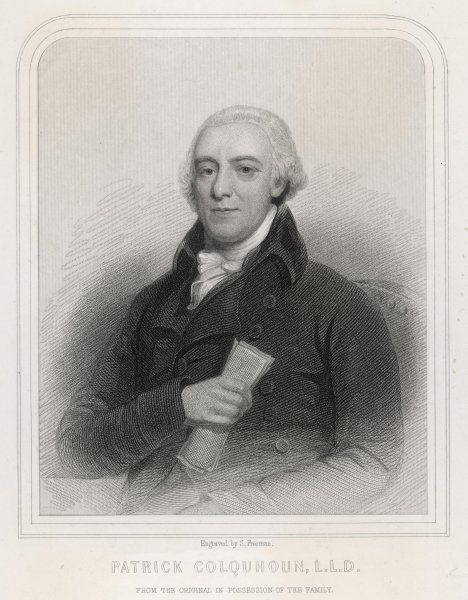 PATRICK COLQUHOUN Police magistrate, Scottish merchant and reformer, founder of the Glasgow Chamber of Commerce in 1783