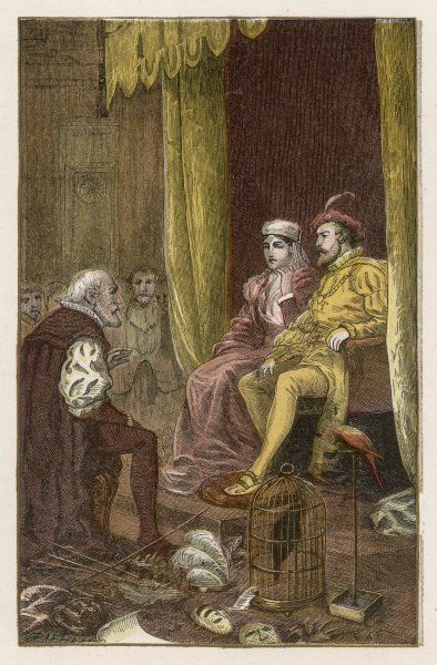 Columbus agrees terms with King Ferdinand and Queen Isabella