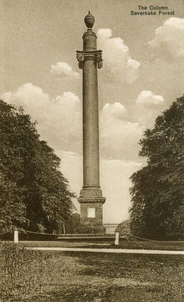 "The Column, Savernake Forest. First mention of a woodland ""Safernoc"" was made in 934 in the written records of the Saxon king Athelstan, but the land passed into Norman ownership soon after the Norman invasion of 1066"