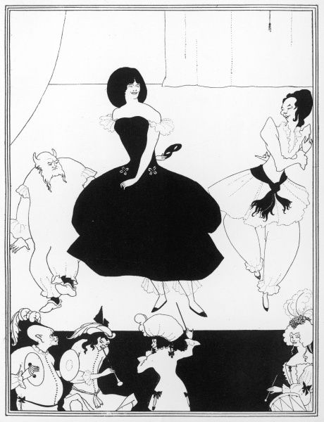 The Comedy-Ballet of Marionnettes, as performed by the troupe of the Theatre-Impossible, posed in the third of three drawings