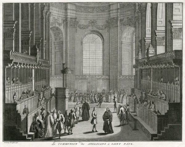 Celebrating Communion at St Paul's Cathedral, London