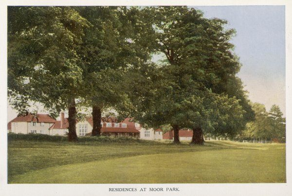 A commuting community : this Moor Park, Hertfordshire, a rural township served by London's extended 'underground' network to give easy access to London