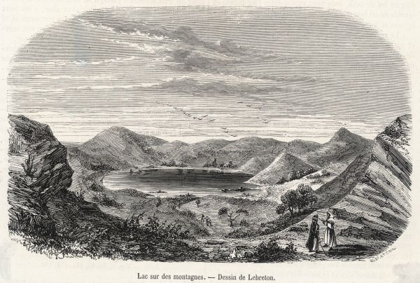 Mayotte, Comoro Islands, off Madagascar, East Africa: a lake in the mountains