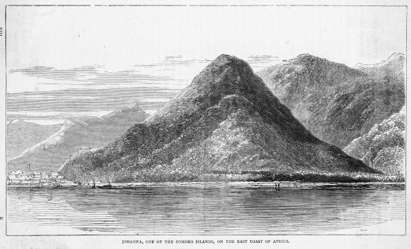 Andouan Island, part of the Federal Islamic Republic of the Comoros. Date: circa 1860