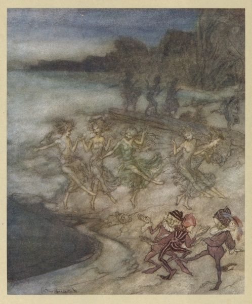Elves and fairies dance on the beach Date: First published : 1634