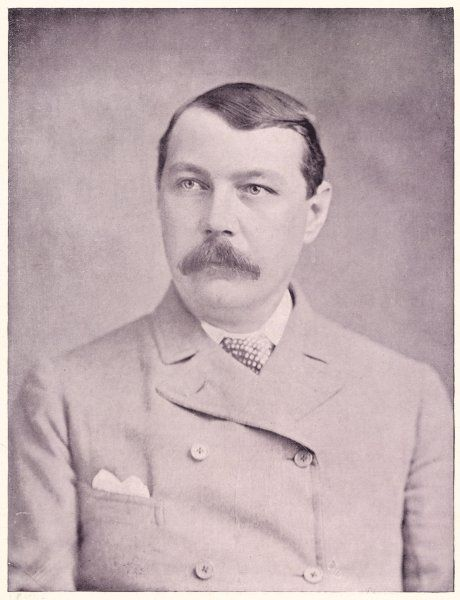 SIR ARTHUR CONAN DOYLE British physician and writer, circa 1895