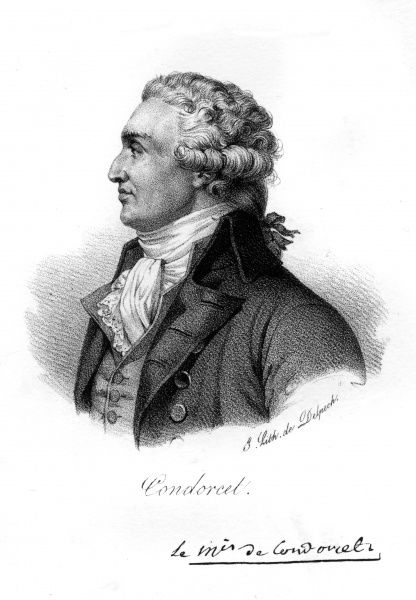 MARQUIS DE CONDORCET French stateman, philosopher and mathematician Date: 1743 - 1794
