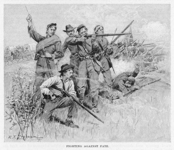 Outnumbered and out- generalled, short of supplies and ammunition, Confederate soldiers fight on as best they can