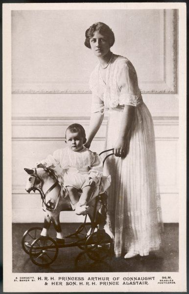 ALEXANDRA DUCHESS OF CONNAUGHT Wife of Prince Arthur of Connaught, with their son Alastair (later Duke of Connaught)