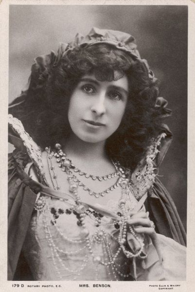 CONSTANCE BENSON (nee Featherstonhaugh) English actress, wife of Frank R Benson