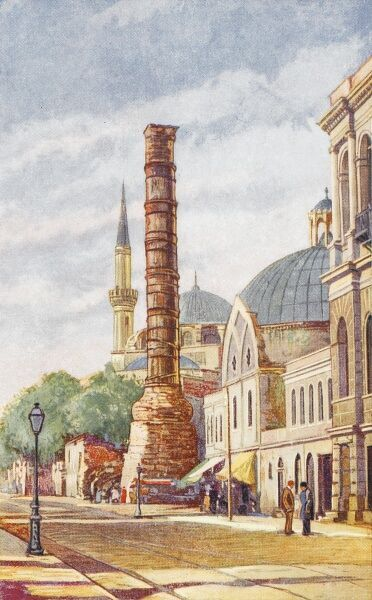 The Column of Constantine (or 'Burnt Column') is a monumental column constructed on the orders of the Roman emperor Constantine the Great in 330 AD