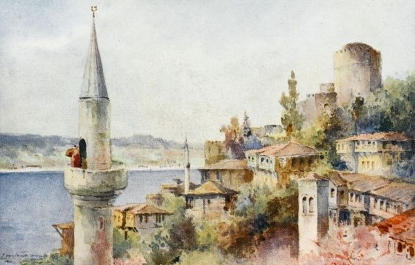 Constantinople - Muezzin - Call to prayer in village of Rumeli Hisari
