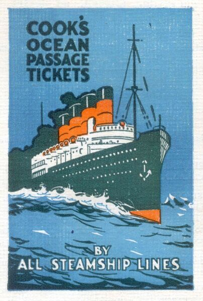 Advertisement for Thomas Cook's Ocean Passage Tickets
