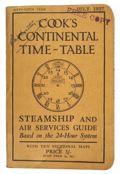 COOK'S CONTINENTAL TIME-TABLE