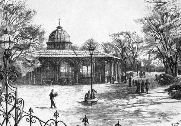 The Koncertsal (concert hall) in the Tivoli Gardens. Date: 1888