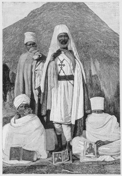 A group of Coptic priests, Eritrea