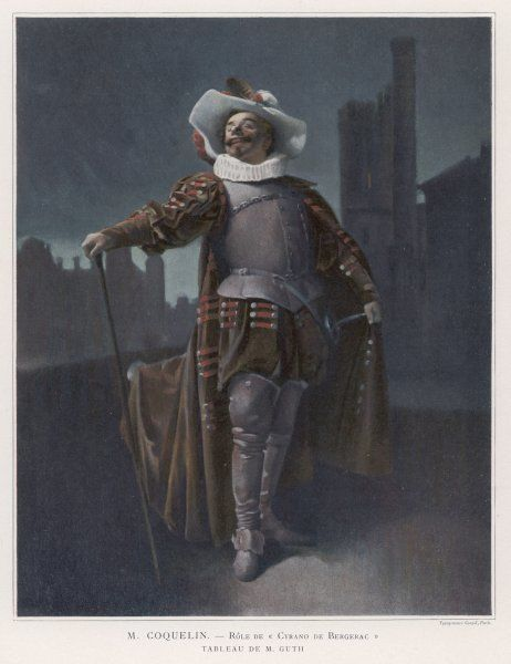 CONSTANT COQUELIN Aine (elder) French actor in the role of Cyrano de Bergerac