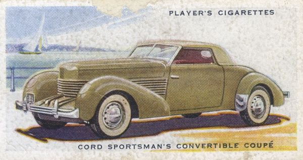 The stylish Cord Sportsman's convertible coupe. Date: 1936