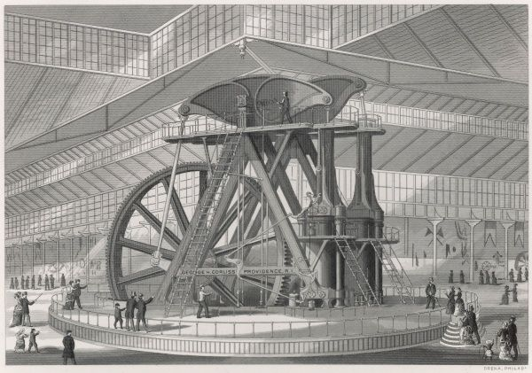 The great Corliss engine displayed in the USA