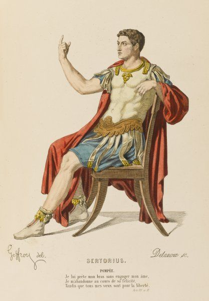 'SERTORIUS' the character of Pompee