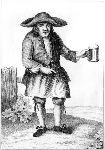 Cornelius Caton with his ale at the White Lion, Richmond, where he was the landlord. Date: circa 1780