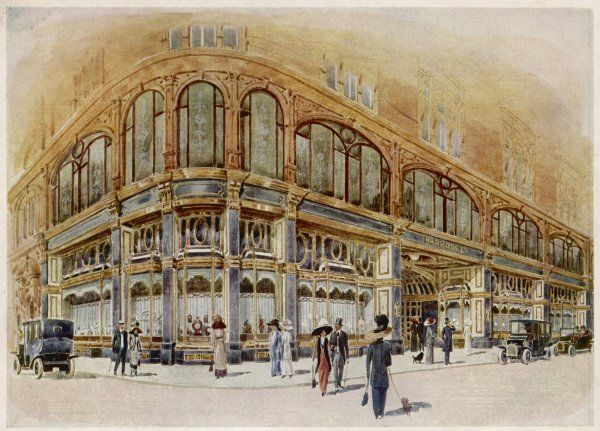 The elegant facade of Harrods is matched by the elegance of its customers