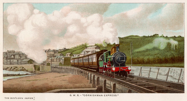 The 'Cornishman' express of the Great Western Railway carries passengers from London to Cornwall (and back again if required)