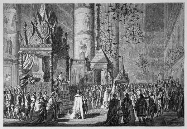 The coronation of Catherine the Great of Russia