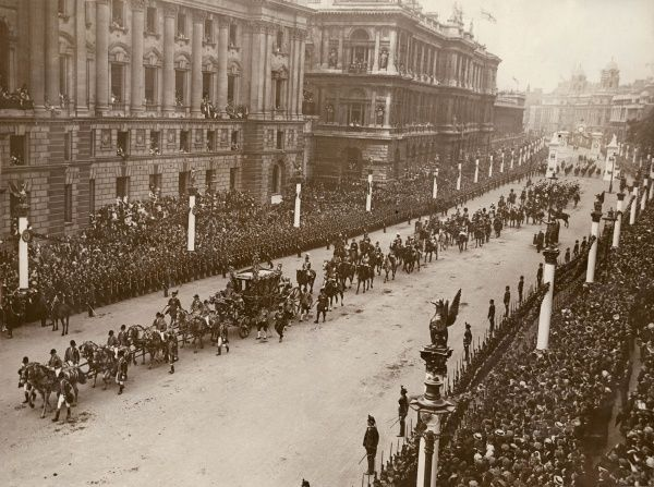 The Coronation Procession of King George V in Whitehall, Central London