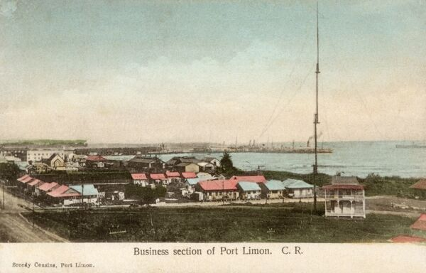 Costa Rica - Port Limon (The Business Section) Date: circa 1910s