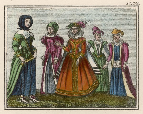 Examples of English costume of the 16th and 17th centuries according to a later source