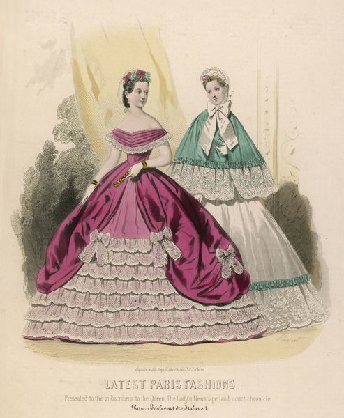 Lastest Paris fashion of 1864