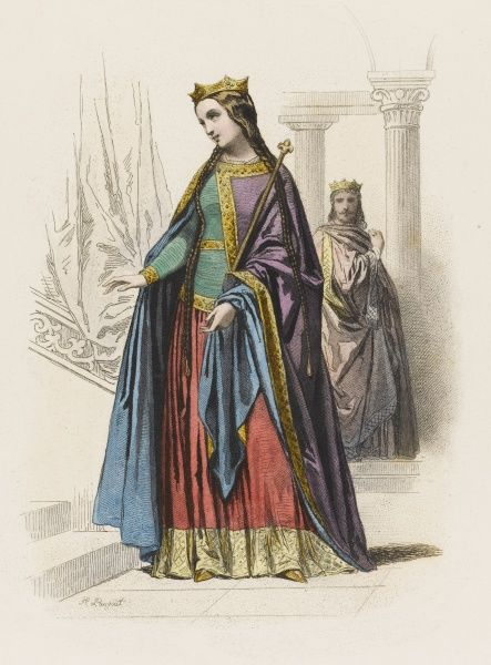 A French queen of the 10th century (no particular individual)