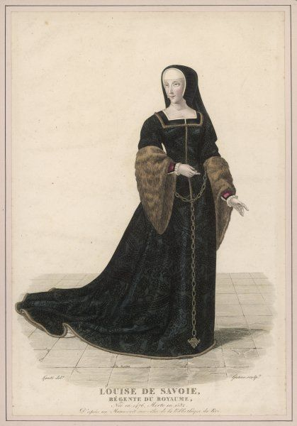 LOUISE DE SAVOIE mother of Francois I of France, and regent during his absences
