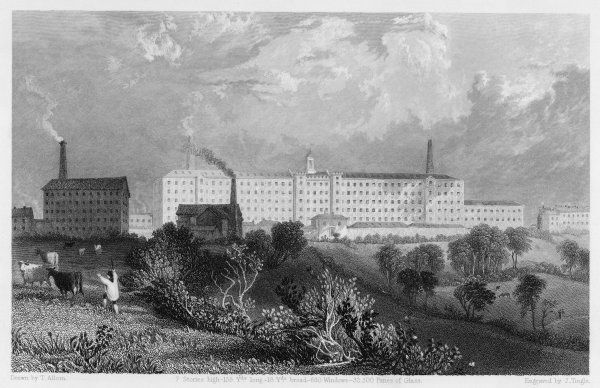 The cotton mills of Swainson, Birley and Co. Preston, Lancashire