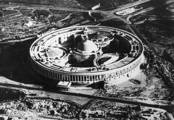 Aerial view of the Council House, New Delhi, India. Date: 1930s