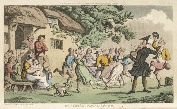 'Rural Sport' -- Dr Syntax watches country people dancing in an English Village