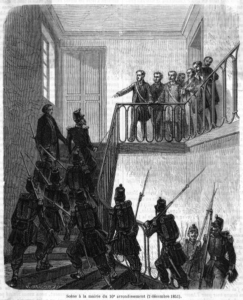 Troops loyal to Napoleon take over the Mairie of the 4th arrondissement, Paris