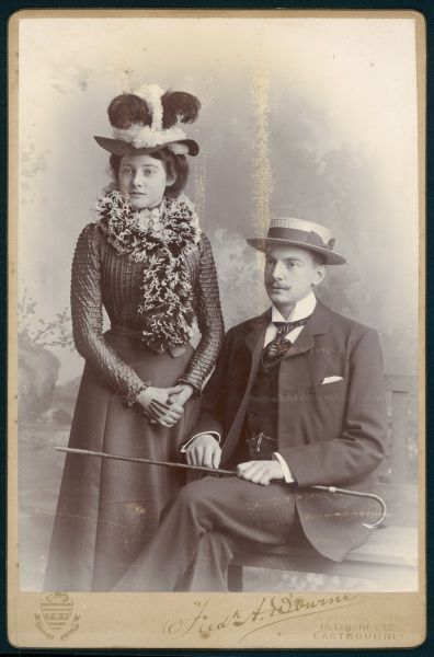 A smart young couple photographed at Eastbourne