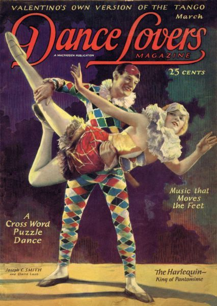 Art deco cover of Dance magazine, March 1925, featuring Joseph C. Smith and Claire Luce Date: 1925