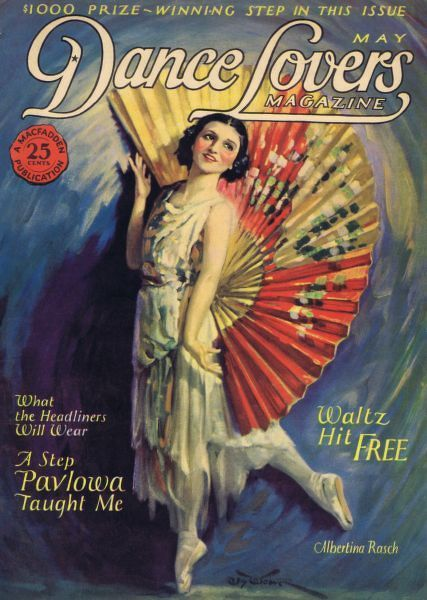Art deco cover of Dance magazine, May 1925, featuring Albertina Rasch Date: 1925