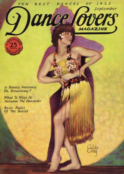 Art deco cover of Dance magazine, September 1925, featuring Gilda Gray Date: 1925