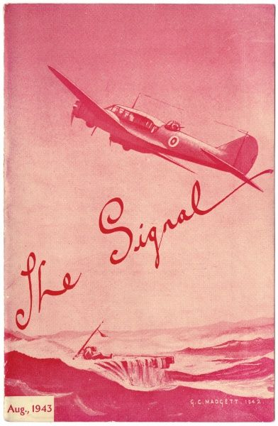 Cover of The Signal, August 1943, the station magazine of 47 Air Navigation School in Queenstown, South Africa, where many RAF airmen from Bomber Command trained prior to operational tours