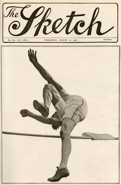 The extraordinary attitude of American high jumper, Harry Porter, who used a modified 'scissors' technique