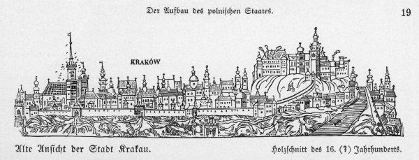 View of the city in the 16th century