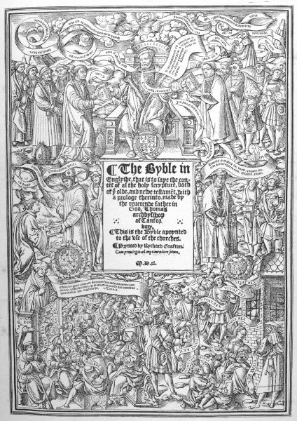 CRANMER'S translation of the Bible into english : the title page