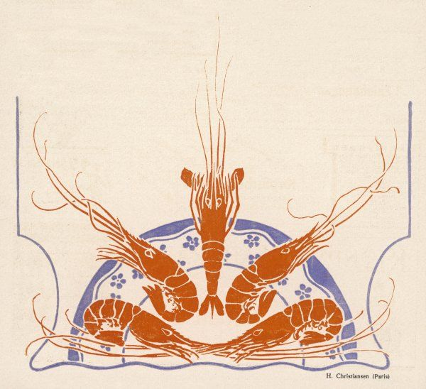 An elegant display of crayfish on a plate