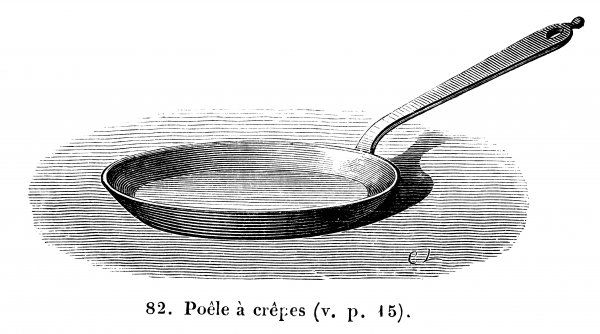 A flat-bottomed, shallow frying pan made for cooking crepes or pancakes to perfection
