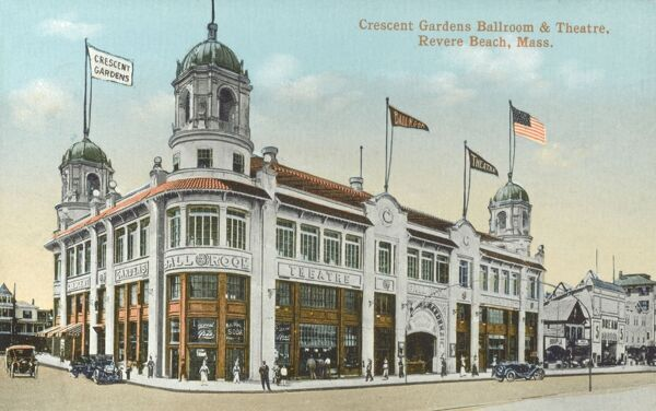 Crescent Gardens Ballroom and Theatre, Revere Beach, Massachusetts Date: circa 1909